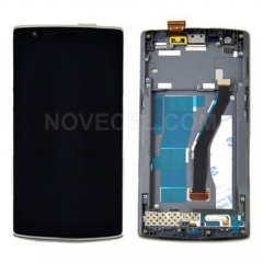 LCD Display + Touch Screen Digitizer Assembly with Frame Replacement for OnePlus One(Black)