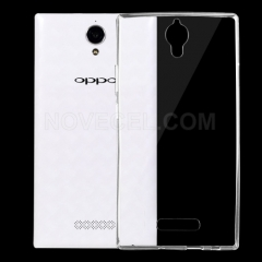 OPPO U3 / 6607 0.75mm Ultra-thin Transparent TPU Protective Case(Transparent)