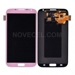 LCD with Touch Screen Digitizer for Galaxy Note 2 N7100 - Pink