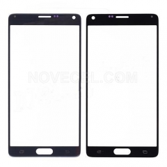 A+ Front Glass for Galaxy Note 4 N910-High Quality/Black