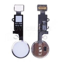 Home Button with Flex Cable, Connector and Fingerprint Scanner Sensor for iPhone 7/ 7 Plus - Silver