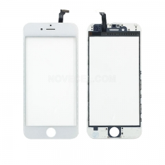 A Quality Front Screen Glass Lens with LCD Digitizer Frame + Touch for iPhone 6s(4.7 inches)  - White