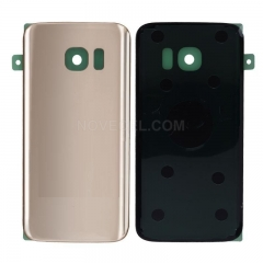 A+ Back Cover Battery Door for Samsung Galaxy S7 /G930 (High Quality)- Gold