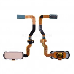 Home Button with Flex Cable, Connector and Fingerprint Scanner Sensor for Samsung Galaxy S7/G930 (Pink)