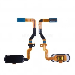 Home Button with Flex Cable, Connector and Fingerprint Scanner Sensor for Samsung Galaxy S7/G930 (Black)