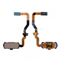 Home Button with Flex Cable, Connector and Fingerprint Scanner Sensor for Samsung Galaxy S7/G930 (Gold)