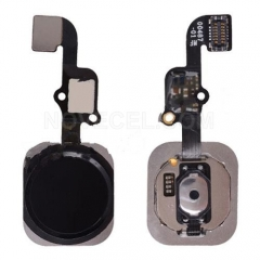 Home Button with Flex Cable Ribbon, Home Button Connector for iPhone 6S/ 6S Plus - Black
