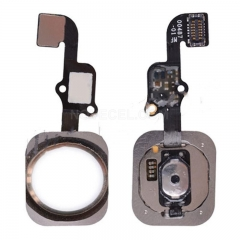 Home Button with Flex Cable Ribbon, Home Button Connector for iPhone 6S/ 6S Plus - Gold