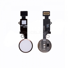 Home Button with Flex Cable, Connector and Fingerprint Scanner Sensor for iPhone 7 plus - Rose Gold