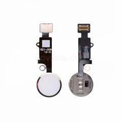 Home Button with Flex Cable, Connector and Fingerprint Scanner Sensor for iPhone 7 plus - Gold