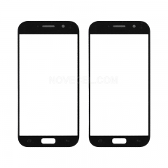 For Galaxy A5 (2017) / A520 Front Screen Outer Glass Lens-Generic(Black)