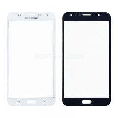 A For Galaxy J7 / J700 Front Screen Outer Glass Lens-Regular(White)