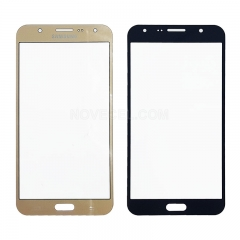 A For Galaxy J7 / J700 Front Screen Outer Glass Lens-Regular(Gold)