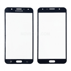 A For Galaxy J7 / J700 Front Screen Outer Glass Lens-Regular(Black)