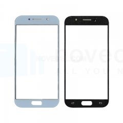 For Galaxy A5 (2017) / A520 Front Screen Outer Glass Lens-Generic(Blue)