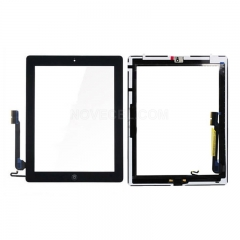A+ Touch Screen Digitizer with Home Button for iPad 4 (ORI Quality) - Black