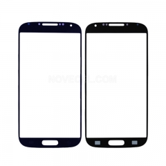 A+ Front Glass Screen Lens Replacement for Galaxy S4 i9500-High Quality/Blue