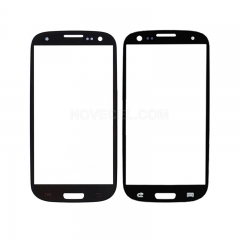 A+ Front Glass Lens Screen Cover for i9300 Galaxy S III S3 -High Quality/Black