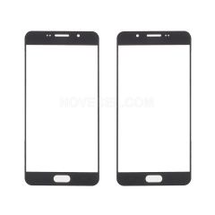 For Galaxy A7(2016) A710 Front Screen Outer Glass Lens-Generic(Black)