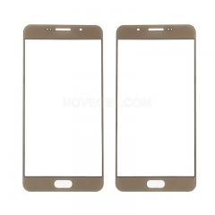 For Galaxy A7(2016) A710 Front Screen Outer Glass Lens-Generic(Gold)