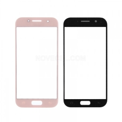 For Galaxy A5 (2017) / A520 Front Screen Outer Glass Lens-Generic(Pink)