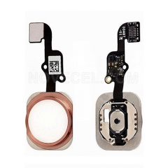 Home Button with Flex Cable Ribbon, Home Button Connector for iPhone 6S/ 6S Plus - Rose  Gold