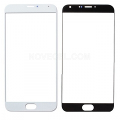 Front Glass For Meizu MX5 -  White