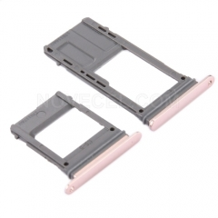 Sim Card Tray and MicroSD Card Tray for For Galaxy A5 (2017) / A520 - Pink