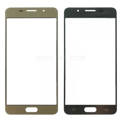 For Galaxy A5 (2016) / A510 Front Screen Outer Glass Lens-Generic(Gold)
