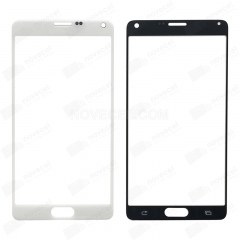 A+ Front Glass for Galaxy Note 4 N910-High Quality/White