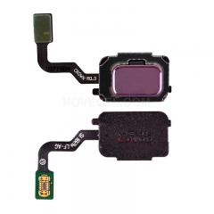 Home Button with Flex Cable,Connector and Fingerprint Scanner Sensor for Samsung Galaxy Note 9 N960 - Purple