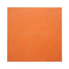 Silicone rubber sheet Thickness 0.8 mm thickness/ 400*400mm width thin board red color Rubber Sheet Mat