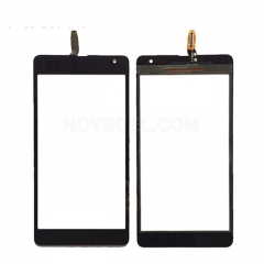 OEM Refurbished Front Touch Screen Glass for Nokia 535 2C Version - Black