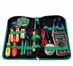 BST-113 Hand Tool Set 16in 1 General Professional Household Repair Hand Tool Kit Screwdrivers Soldering Iron Multimeter Tweezers Repair Tool box