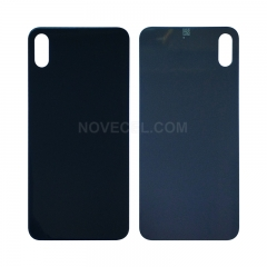A+ Back Cover Glass For iPhone XS(5.8 inches) - Black/Normal Hole