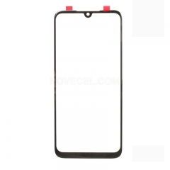 Outer Glass Lens Front Screen Cover Replacement for Xiaomi Redmi Note 7- Black
