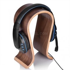 U Shape Wooden Headphones Stand Holder Universal for Sony Headset Desk Display Shelf Rack Hanger Stand Bracket for AKG
