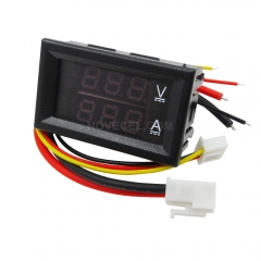 DC 0-100V 10A Voltmeter Ammeter Red+ Blue LED Amp Dual Digital Volt Meter Gauge LED display
